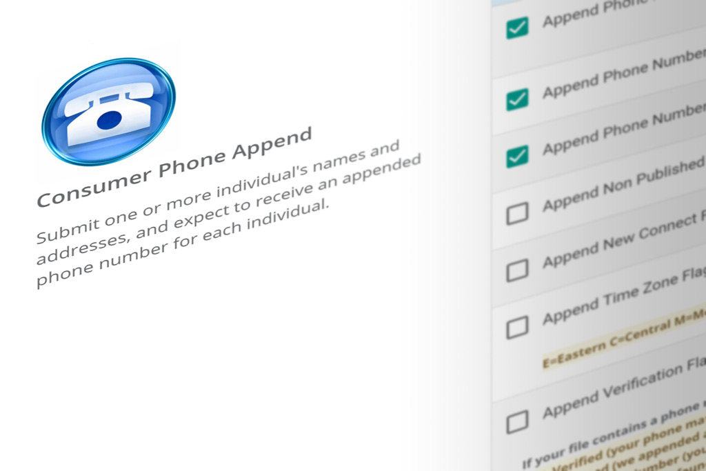 DIY Portal phone append services