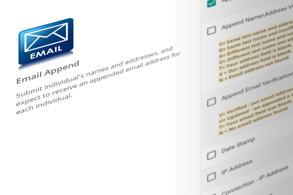 DIY Portal email append services