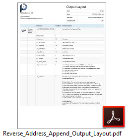 Reverse Address Append Output Layout File Sample